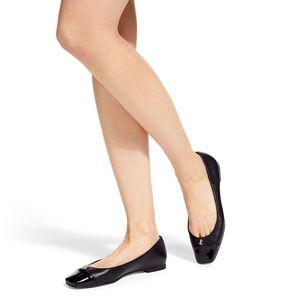 Jimmy Choo Black Patent Leather Round Toe Flats